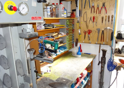 Werkstatt im Schuhhaus Zwickl in Bogen